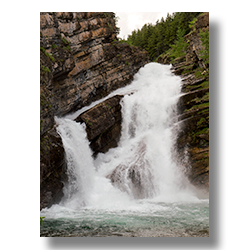 Cameron Falls in Waterton National Park Alberta, Canada